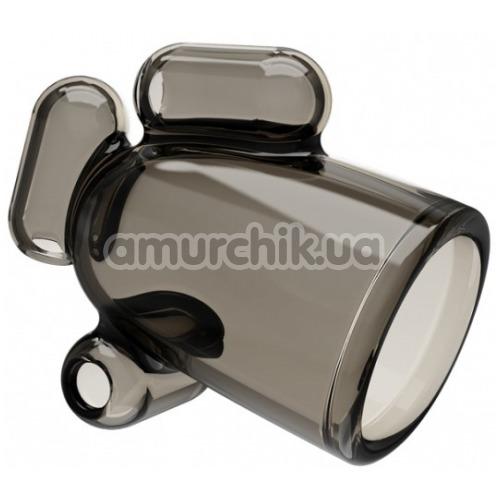 Мастурбатор для головки члена с вибрацией Vibrating Crystal Cap I, черный