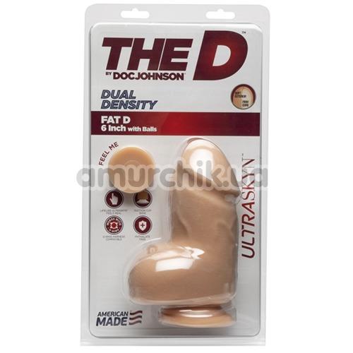 Фаллоимитатор The D Dual Density Fat D 6 Inch, телесный