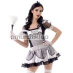 Костюм горничной LeFrivole Easy To Love (02908) черный: платье + перчатки + чулки + головной убор - Фото №1
