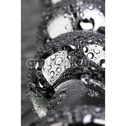 Анальная пробка с синим кристаллом Toyfa Metal 717057-6, серебряная