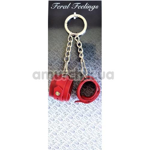 Брелок Feral Feelings наручники, красный