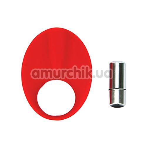 Виброкольцо Caliber Cock Ring, красное