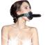Кляп с фаллоимитатором Theatre 708008, черный - Фото №1