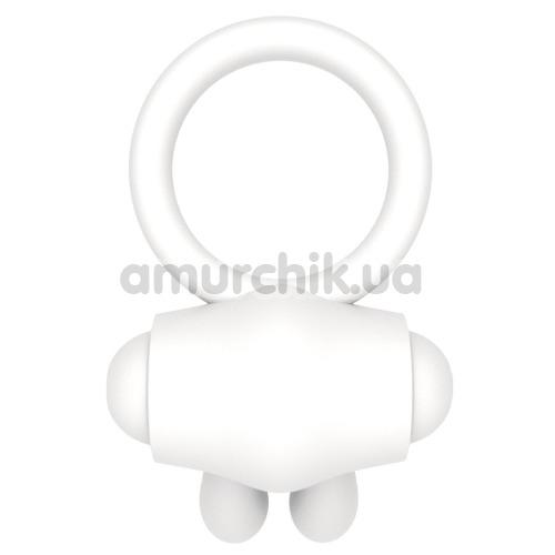 Виброкольцо Power Clit Cockring Rabbit, белое