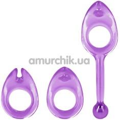 Набор из 3 эрекционных колец Shane's World Class Rings, фиолетовый - Фото №1