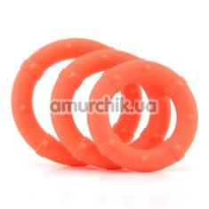 Набор эрекционных колец Posh Silicone Love Rings, 3 шт оранжевый - Фото №1