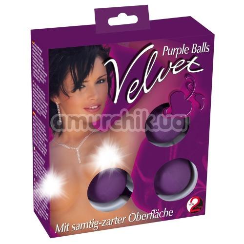 Вагинальные шарики Velvet Purple Balls фиолетовые