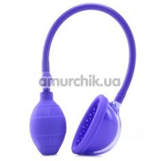 Вакуумная помпа для клитора Silicone Clitoral Pump, фиолетовая - Фото №1