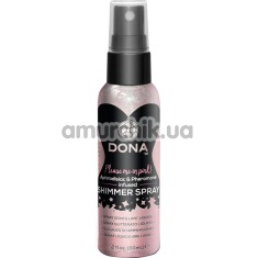 Спрей для тела с блестками DONA Shimmer Spray Pink - розовый, 60 мл - Фото №1
