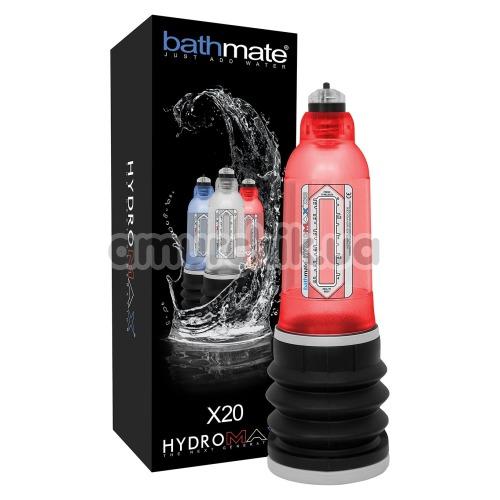 Гидронасос для увеличения пениса Bathmate Hydromax X20, красный