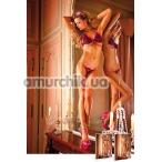Комплект Black-Pink Frilled Bikini: бюстгальтер + трусики-стринги - Фото №1