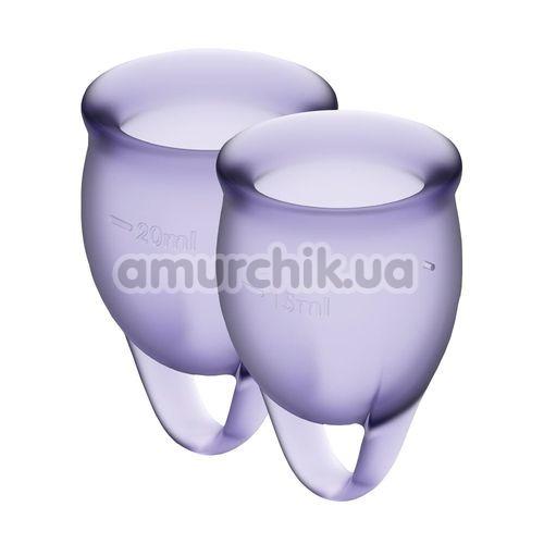 Набор из 2 менструальных чаш Satisfyer Feel Confident, фиолетовый - Фото №1