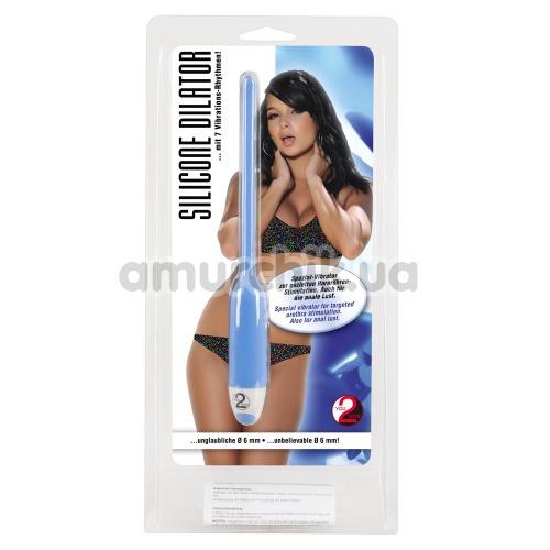 Уретральная вставка с вибрацией для женщин Silicone Dilator, голубая