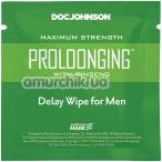 Салфетка-пролонгатор Doc Johnson Prolonging Delay Wipe - Фото №1