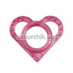 Эрекционное кольцо Love Ring, розовое - Фото №1