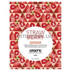 Массажное масло с согревающим эффектом Exsens Strawberry Massage - клубника, 3 мл - Фото №1