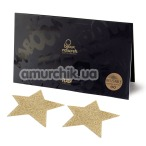 Украшения для сосков Bijoux Indiscrets Flash Glitter Pasties Star, золотые - Фото №1