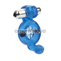Виброкольцо Magnetic Power Full Contact Ring, синее - Фото №1