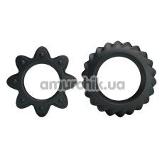 Набор из 2 эрекционных колец Ring Flowering, черный - Фото №1