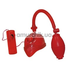 Вакуумная помпа для вагины с вибрацией Vibrating Vagina Sucker red - Фото №1