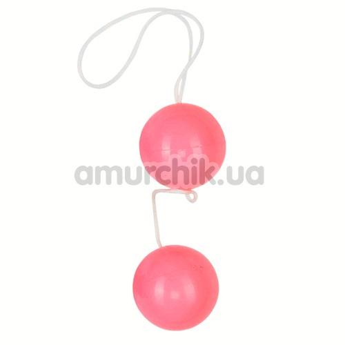 Вагинальные шарики Vibratone Unisex Duo Balls розовые - Фото №1