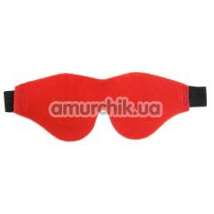 Маска на глаза Sportsheets Flirt Soft Blindfold красная - Фото №1