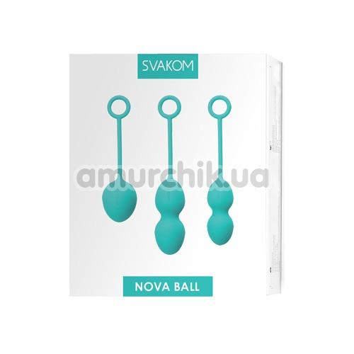 Вагинальные шарики Svakom Nova Ball, бирюзовые