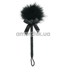 Пёрышко для ласк Sportsheets Midnight Feather Tickler, чёрное - Фото №1