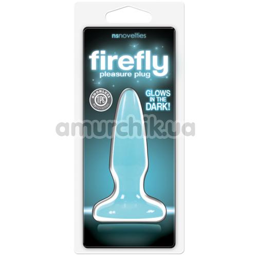Анальная пробка Firefly Pleasure Plug Mini, голубая