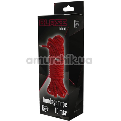 Веревка Blaze Deluxe Bondage Rope 10м, красная