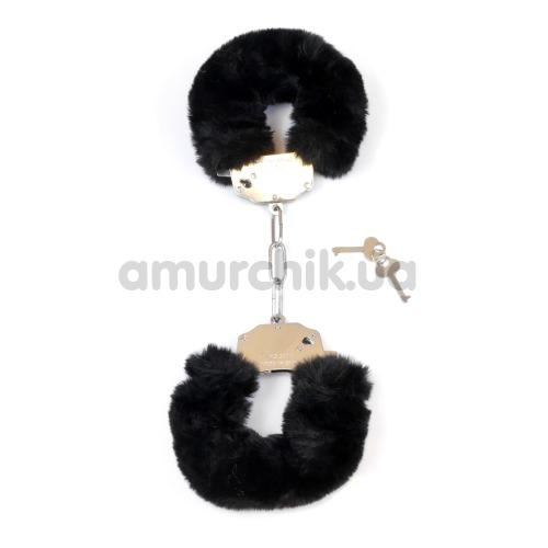 Наручники Boss Series Fetish Furry Cuffs, черные