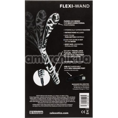 Вибратор для точки G Hype Flexi Wand, черно-белый