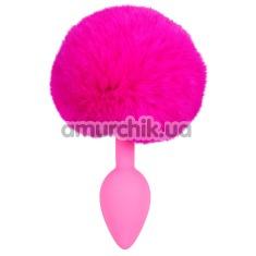 Анальная пробка с розовым хвостиком Colorful Joy Bunny Tail Plug - Фото №1