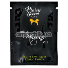 Массажное масло Plaisirs Secrets Paris Huile Massage Oil Exotic Fruits - экзотические фрукты, 3 мл - Фото №1