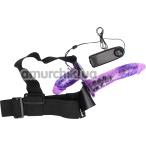 Страпон с вибрацией Ultra Passionate Harness 022049, фиолетовый - Фото №1