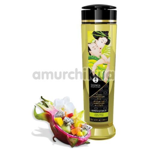 Массажное масло Shunga Erotic Massage Oil Irresistible Asian Fusion - азиатские фрукты, 240 мл