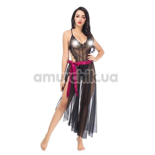 Комплект JSY Sexy Lingerie SO3698 черный: боди + юбка - Фото №1