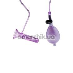 Вакуумная помпа с вибрацией для клитора Pussy Nibbler, фиолетовая - Фото №1