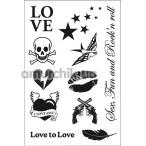 Временные тату Love to Love Rock My Tattoo, черные - Фото №1