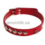 Ошейник sLash SUB Leather Choker, красный - Фото №1