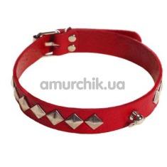 Ошейник sLash SUB Leather Choker, красный