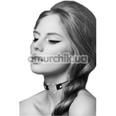 Ошейник Bijoux Pour Toi Heart Diamond, чёрный - Фото №1