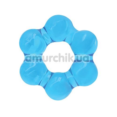 Эрекционное кольцо Renegade Spinner Ring Super Stretchable, голубое - Фото №1