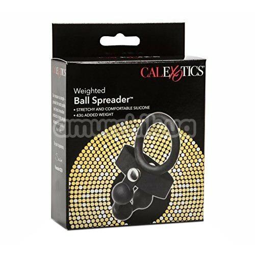 Эрекционное кольцо Weighted Ball Spreader, черное