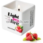 Массажная свеча Love To Love Light My Fire Strawberry - клубника, 80 мл - Фото №1