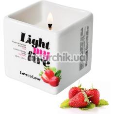 Массажная свеча Love To Love Light My Fire Strawberry - клубника, 80 мл - Фото №1