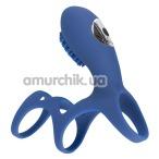 Насадка на пенис с вибрацией Smile Rechargeable Couples Sleeve, синяя - Фото №1