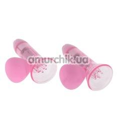 Вакуумные стимуляторы для сосков с вибрацией Nipple Sucker Vibrating Dreams, розовый
