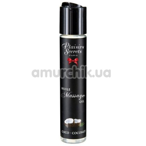 Массажное масло Plaisirs Secrets Paris Huile Massage Oil Coconut - кокос, 59 мл - Фото №1