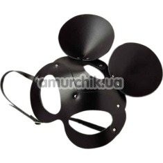 Маска Мышки DS Fetish Leather Mickey Mouse, черная - Фото №1